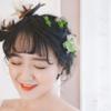 森系小清新跟妆订好 对草坪婚礼更期待了!