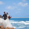 我们沙滩边的婚纱照,幸福就是这么简单~