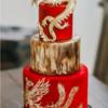 结婚蛋糕也有传统古色古香的
