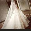 1.5米拖尾,就婚礼穿了一下原价780'现在300转。微信qhx242539