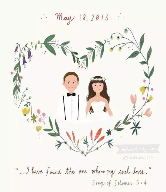 怎样用两人的名字做婚礼logo?这波超全logo模板送给你
