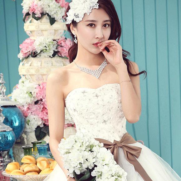 伴娘短款小礼服裙新娘结婚婚纱晚礼服时尚蕾丝敬酒服伴娘服340