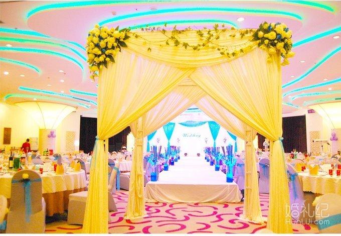 蓝色海洋室内婚礼