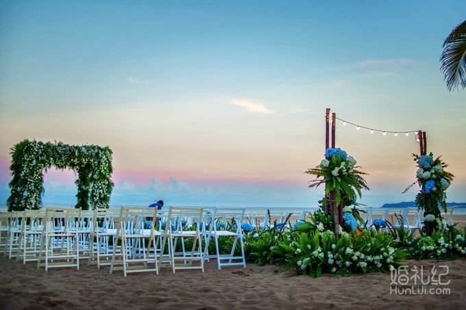 9.13 婚礼场地:三亚 天房洲际酒店 婚礼主题:海滩婚礼