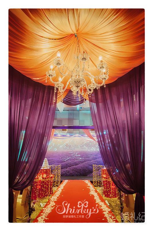 1,主桌桌花 2,舞台背景架搭建,主题背景设计及制作,欧式布幔垂吊,透明