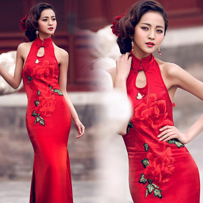 新娘旗袍礼服 设计图