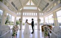 普吉岛360°度纯美白色湖畔礼堂婚礼
