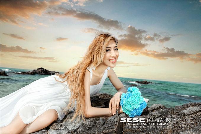 韩国 海景婚纱照