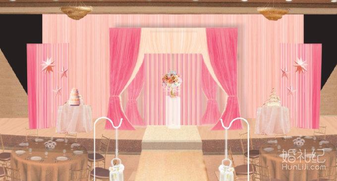 欧式白色系婚礼照片墙布置