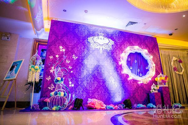 喷绘kt板舞台背景装饰(12m*4m以内,个性定制) 或星空幕布 婚礼仪式桌