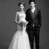黑白婚纱照也能这么美!
