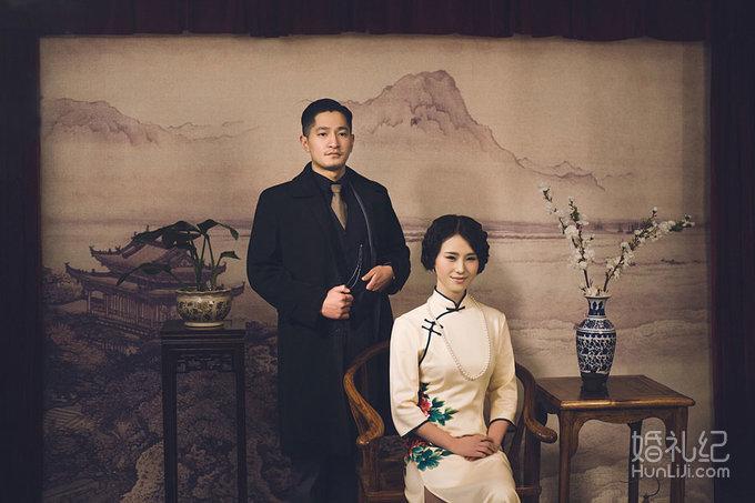旗袍复古怀旧婚纱照(客照展示)-魔方摄影