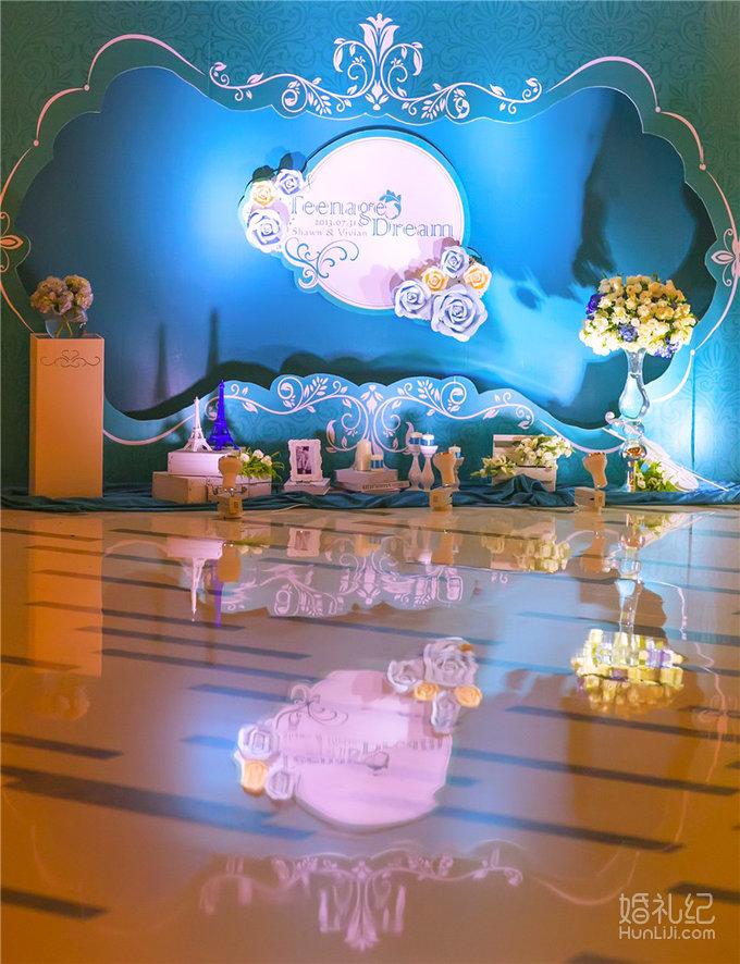 蓝白色系主题婚礼《teenage dream》