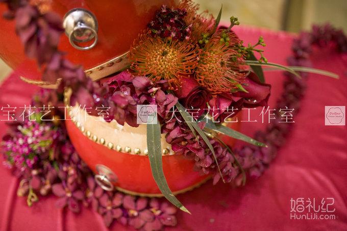 中式婚礼宴会桌花