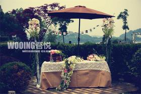 度假村中的美式婚礼