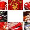 传统的红色中式农村婚礼