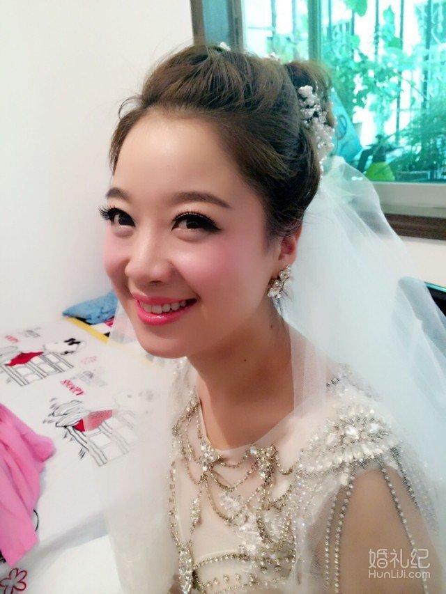 新娘跟妆 新娘早妆 秀和服造型 中式婚礼跟妆