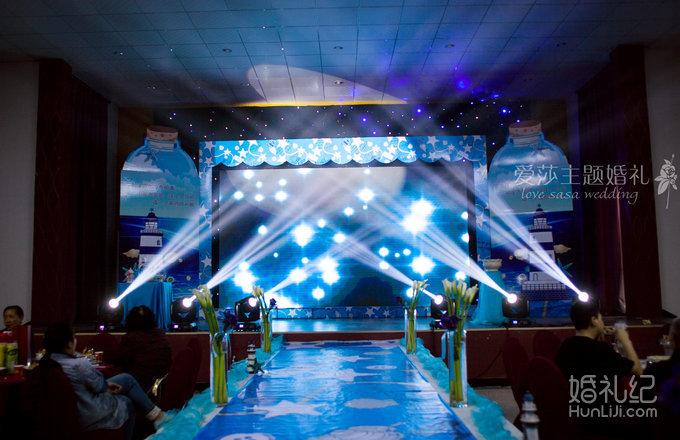 婚礼场地:吴江震泽镇八都社区贯桥宴会厅 婚礼主题:海洋风 婚礼摄影