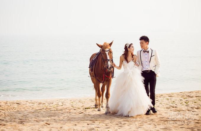 海滩婚纱相册排版设计