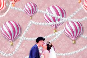 唯美梦幻热气球婚礼布置图