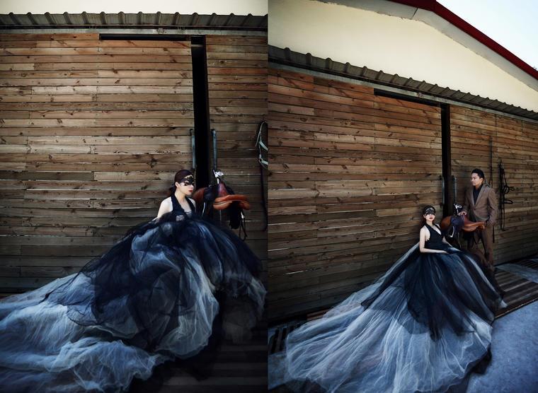 马场婚纱照