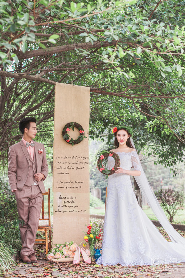 森系婚纱照背景素材