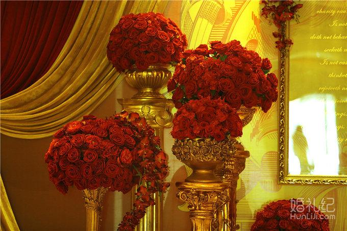 成都大气的红金色婚礼