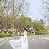 白裙飘逸做个优雅的小女人,清新迷人!!