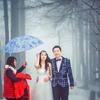 婚前分享雪景婚纱照 千辛万苦爬上去拍的