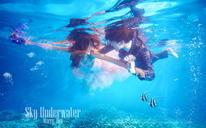 水下婚纱照-天空摄影