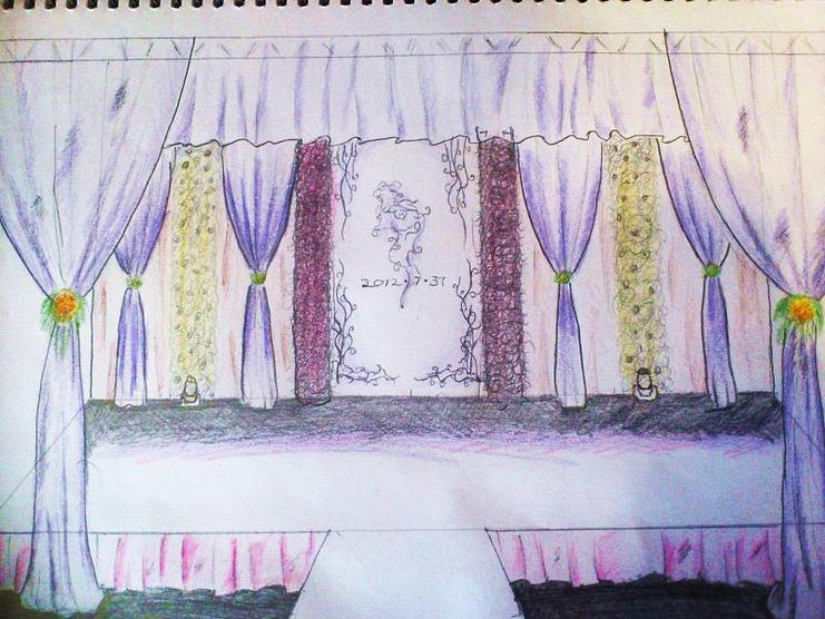 新人专属定制婚礼——手绘效果图