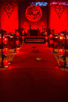 新中式婚礼布置效果图