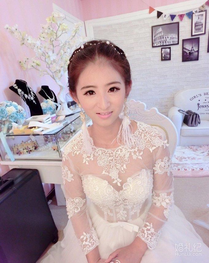 短发编发新娘造型,婚礼化妆师