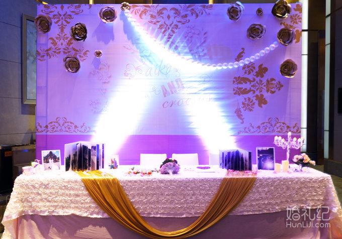金色纸艺花朵8组 签到桌立体花朵布幔造型 小相框 精美摆件 不锈钢