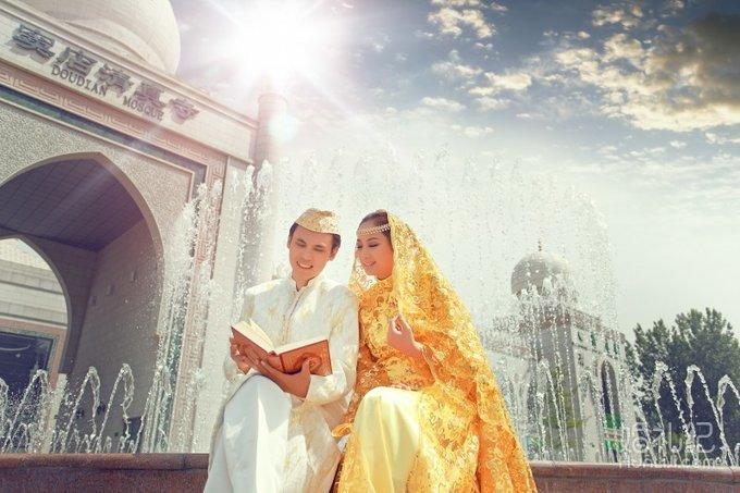 穆斯林婚纱照 | 窦店清真寺图片