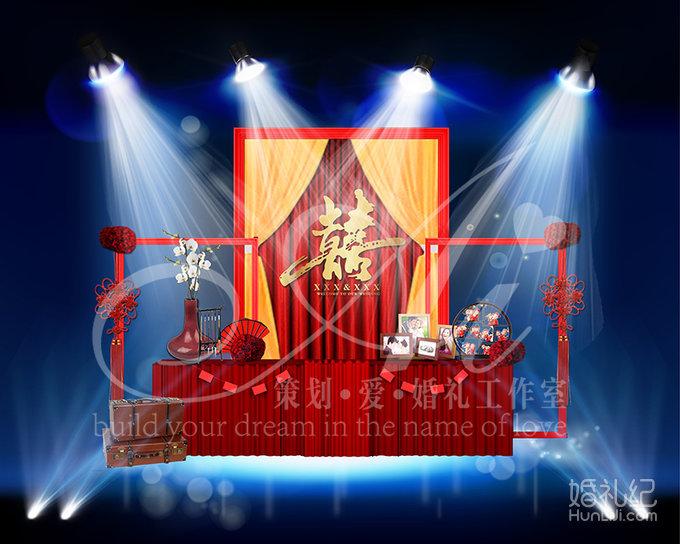 红色+金色中国风,婚礼策划公司