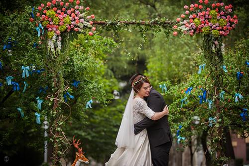 森林系小清新户外婚礼