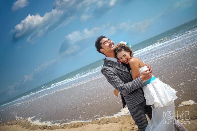 海景婚纱照--海浪篇