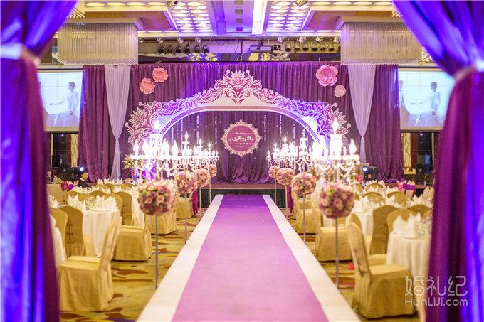 紫色浪漫婚礼套餐,婚礼策划公司