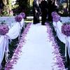 优雅的紫色户外婚礼 自己准备我也是很拼哒~