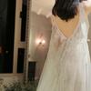 婚纱试到一件灰色的 真的被自己美醉了!