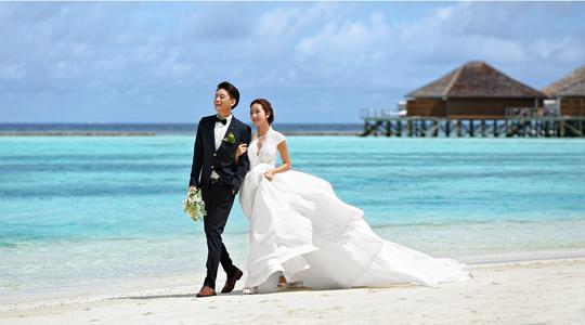 马尔代夫蕉叶岛婚纱拍摄蜜月优惠套餐