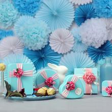 糖礼纪情定蔚海系列高端婚礼喜糖盒子伴手50份套装  私人订制