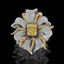 1.39克拉  艳黄钻石戒指  一朵永不凋零的花朵