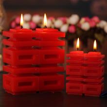 创意求婚洞房蜡烛 喜字红蜡烛 婚房装饰布置道具