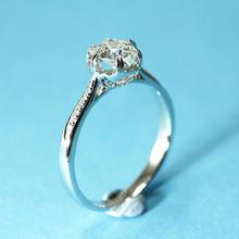 【呓人珠宝】18k白金六爪光环戒臂群镶小钻石戒指托 呓人独款