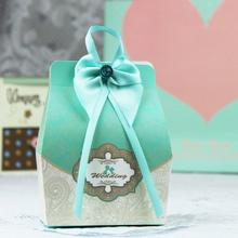 【32元包邮】创意Tiffany蓝色婚礼喜糖盒蒂芙尼蓝