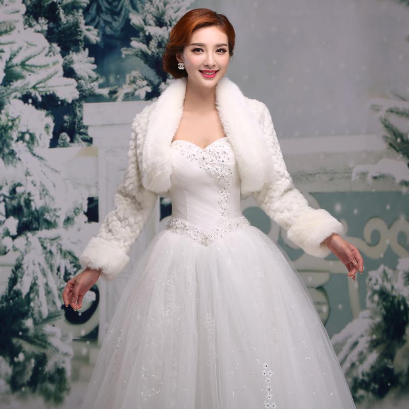 新娘礼服冬季小个子结婚图片