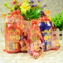 【32元包邮】喜糖袋个性婚礼纱袋糖盒喜蛋袋糖果袋子