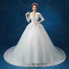 送三件套2016新款婚纱礼服韩式蕾丝半袖包肩婚纱MT185